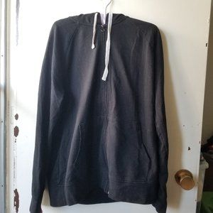 Black Hoodie with Two Front Pockets Size L
